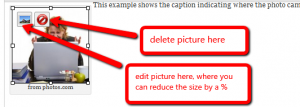 example of editing photo