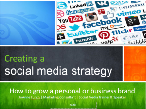 Creating a social media strategy by JoAnne Funch