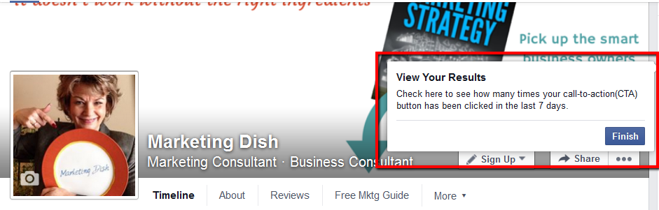 how to create a call to action button on facebook